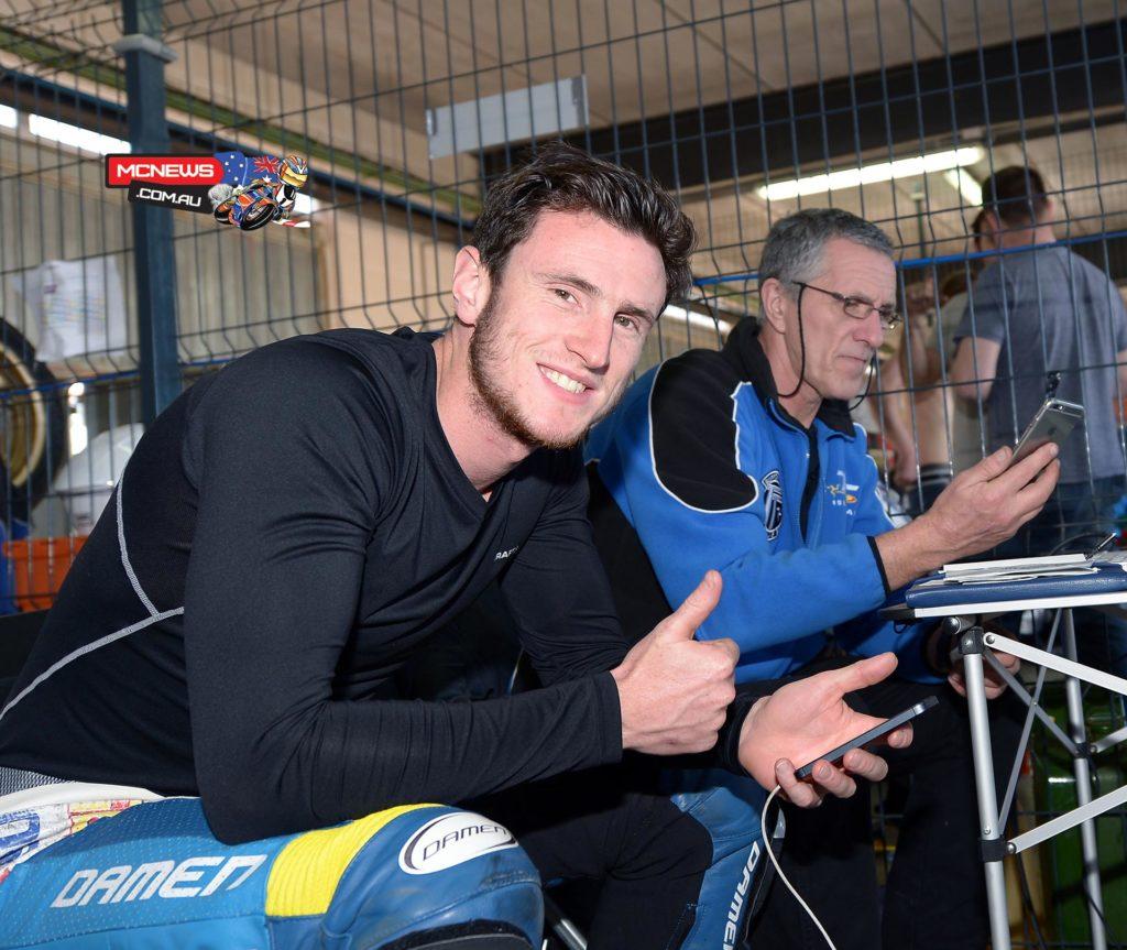 Jed Metcher testing at Cartagena with his PR Kawasaki BSB squad