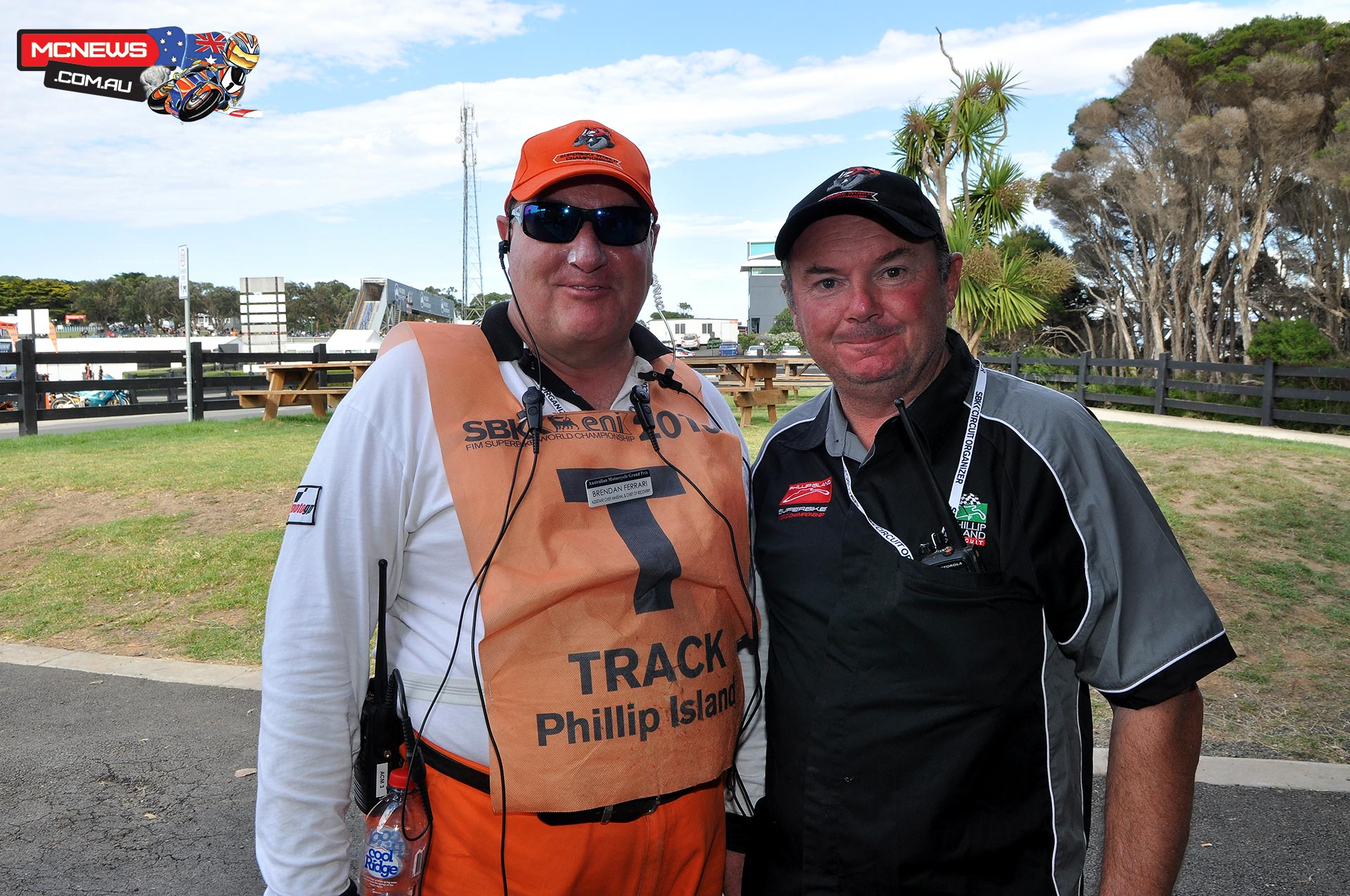 Brendan Ferrari and Paul O'Driscoll have done all 25 years of WSBK at Phillip Island