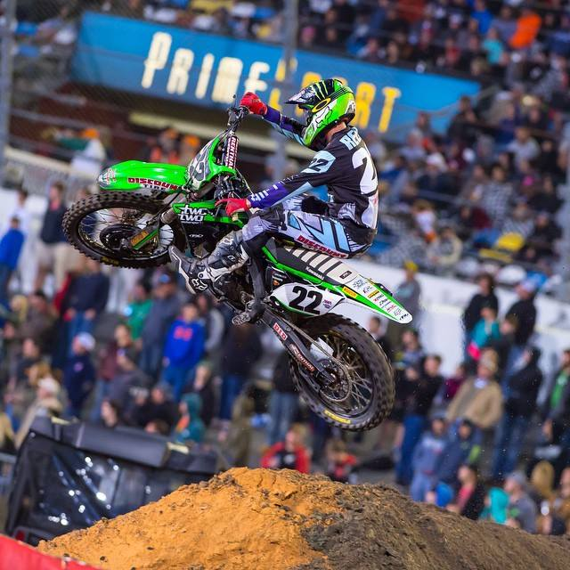 Chad Reed crashed while running in a podium position at Daytona