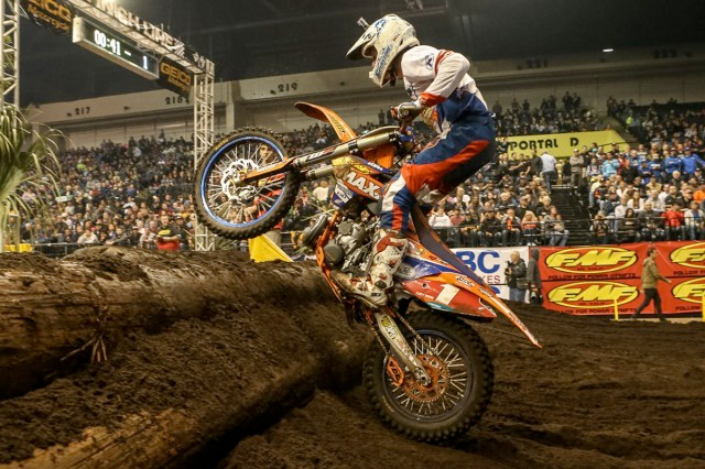 Cody Webb took out the AMA Endurocross Championship opener at Daytona