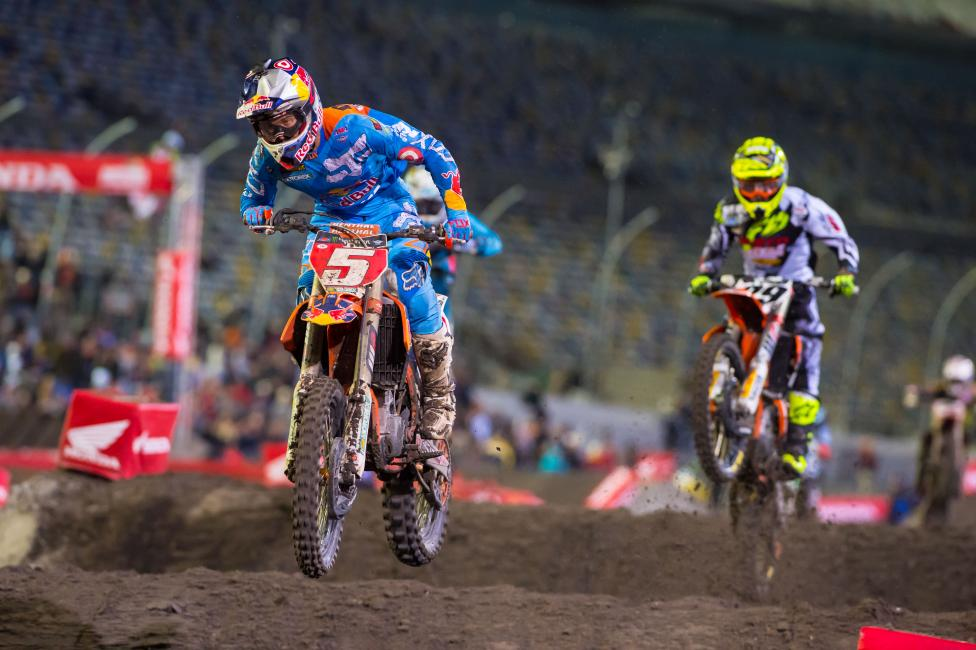 Ryan Dungey has a 40-point lead in the series