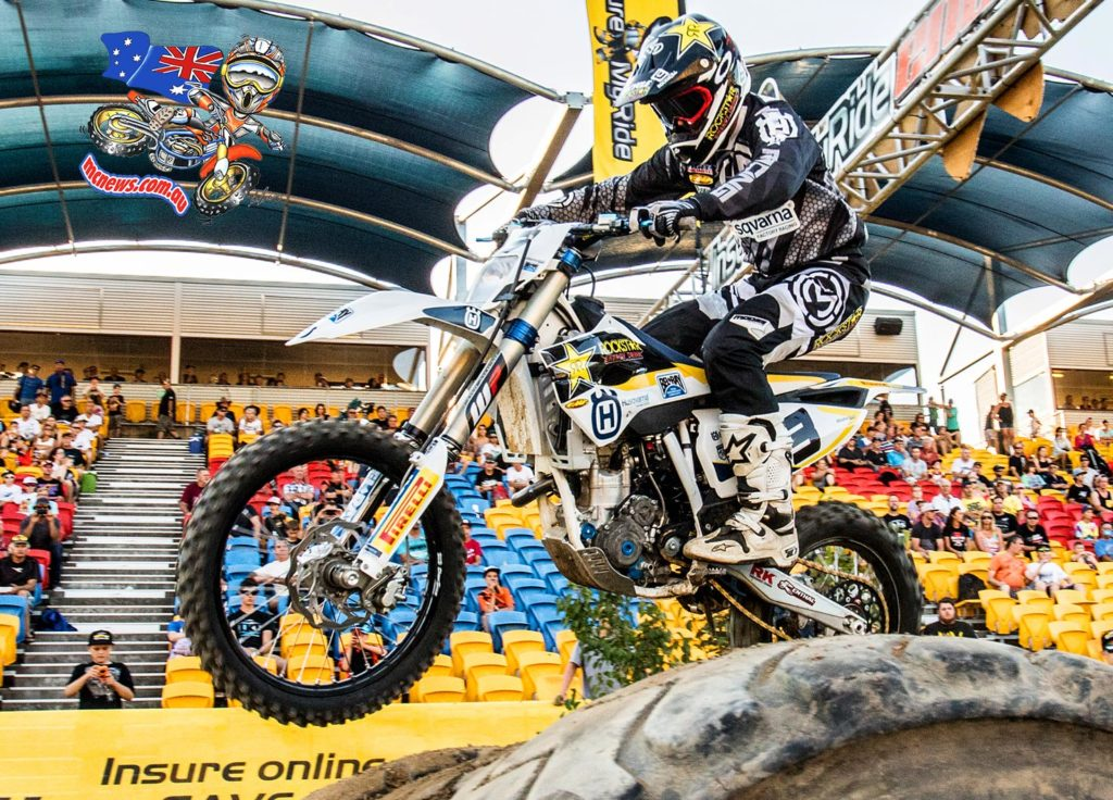 Husqvarna Enduro Racing Team's Mike Brown moved a step closer to winning the Australian Enduro-X Nationals with a flawless display at Eastern Creek.