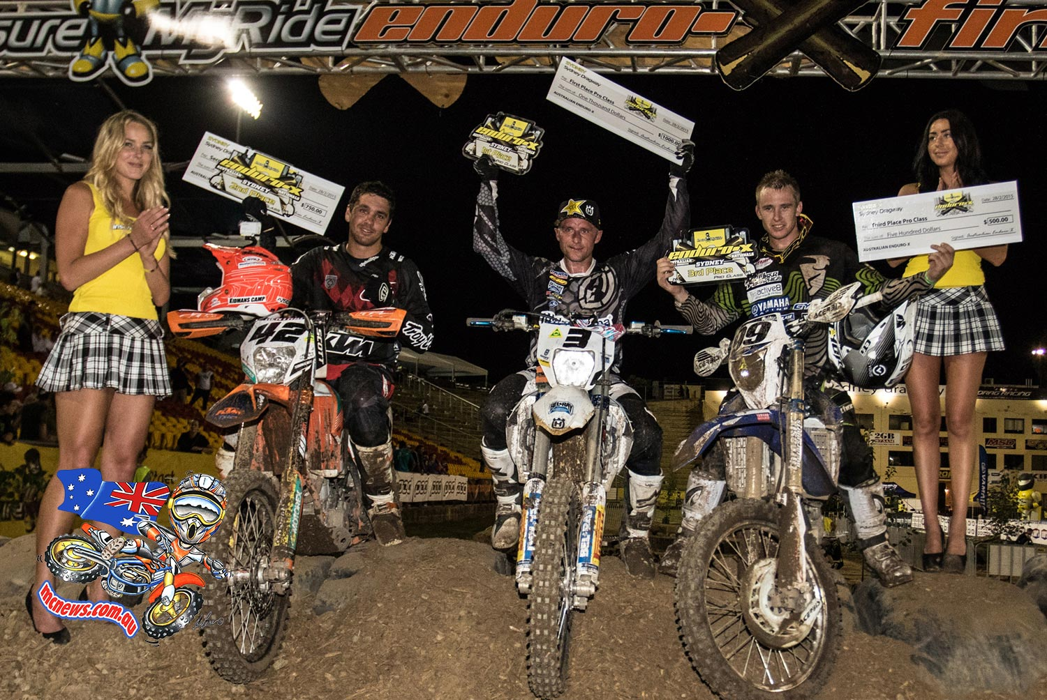 2015 InsureMyRide Australian Enduro-X Nationals, Round 2 overall results: 1. Mike Brown 75, 2. Tye Simmonds 60, 3. Josh Green 58