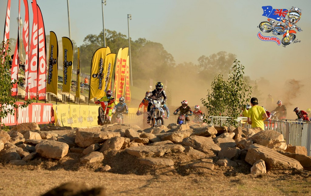 Mike Brown leads the pack at Sydney Enduro-X