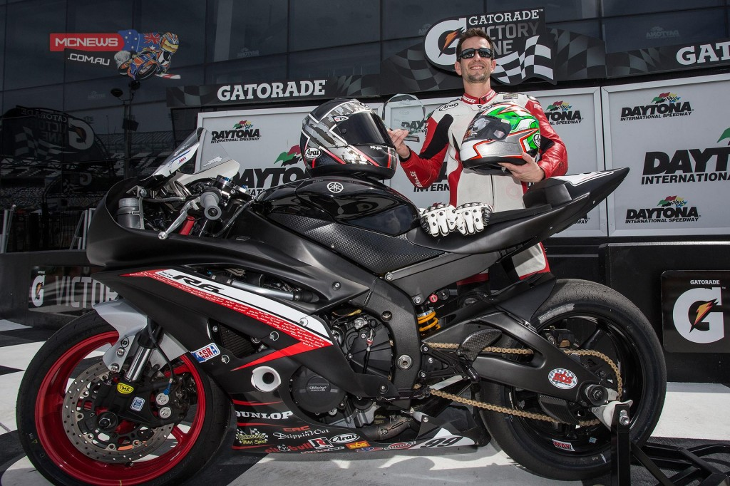 Geoff May takes Daytona 200 Pole Position