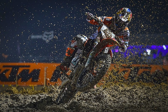 Red Bull KTM Factory Racing's Jeffrey Herlings broke down in tears only moments after taking his second victory for a perfect start to the season