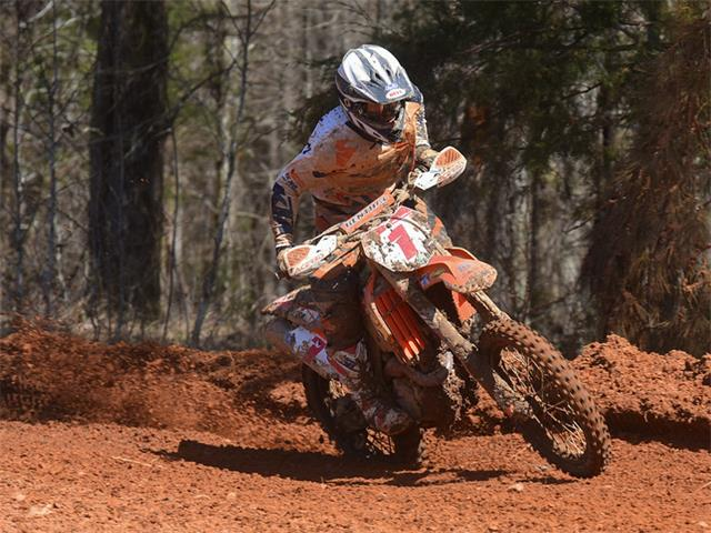 Kailub Russell is 2-for-2 in the 2015 GNCC