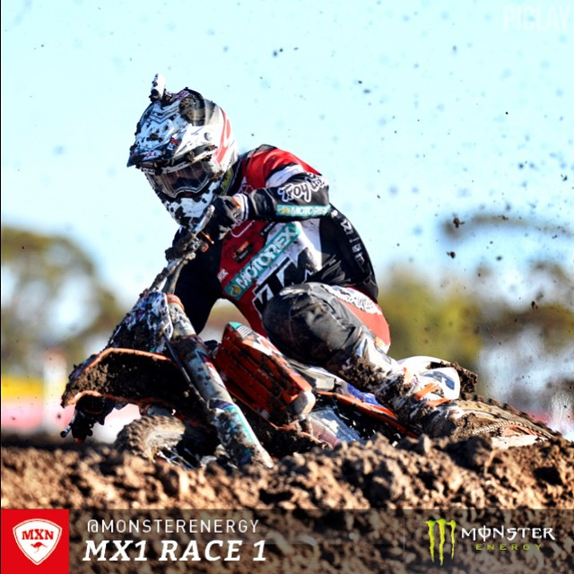 Kirk Gibbs dominated the MX1 class