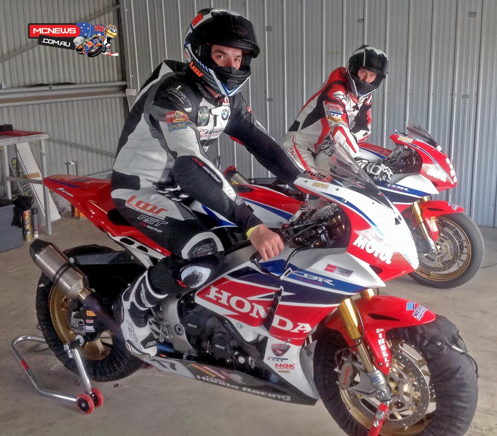 Linden Magee and Team Honda Racing's Troy Herfoss
