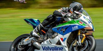 Linden Magee won the NZ SBK TT race at Hampton Downs - Photo Jos Mason