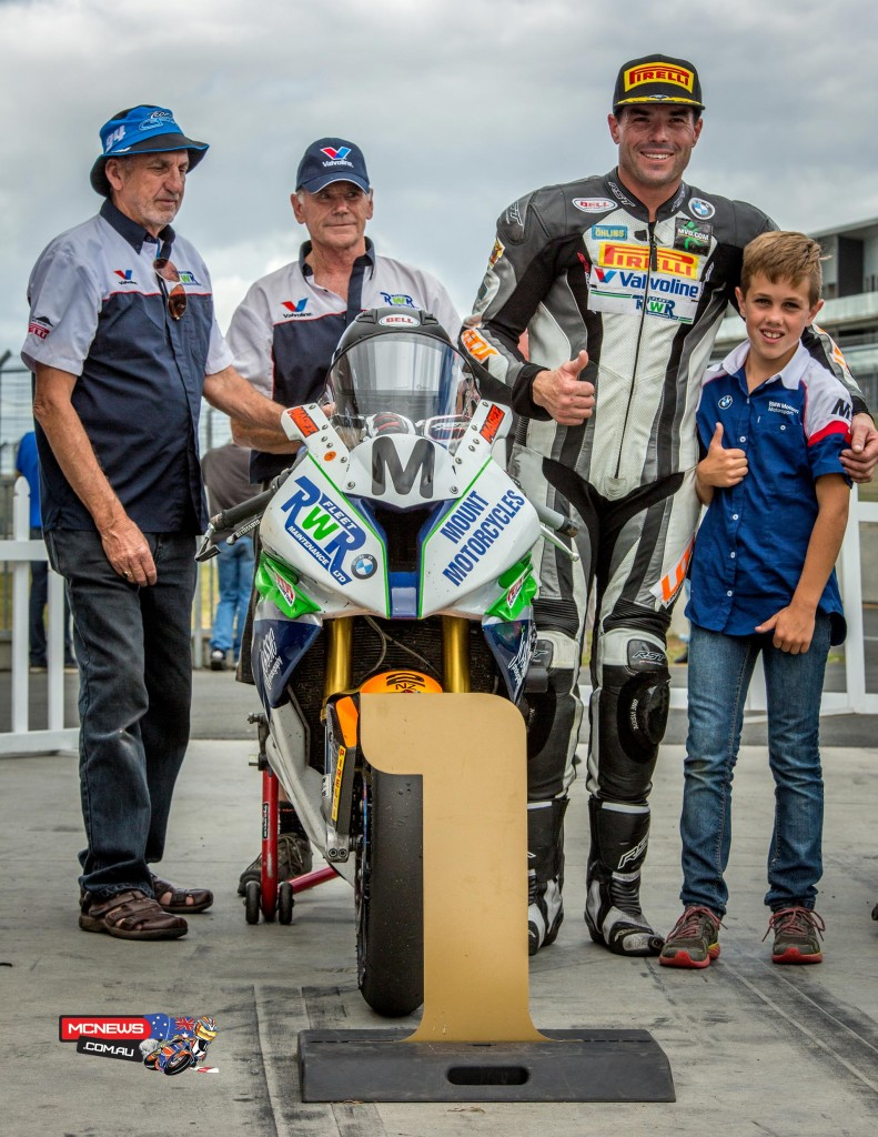 Linden Magee won the NZ SBK TT race at Hampton Downs - Photo Jos Mason