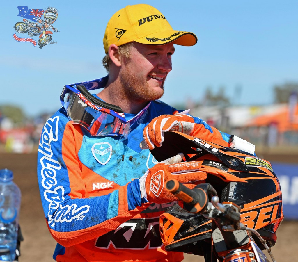 Kirk Gibbs all smiles after dominating the 2015 MX Nationals season opener at Horsham