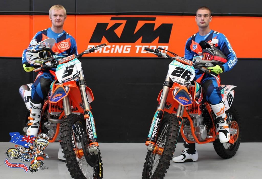 KTM Motocross Racing Team - Kirk Gibbs (left) and Luke Styke (right) - MX Nationals 2015
