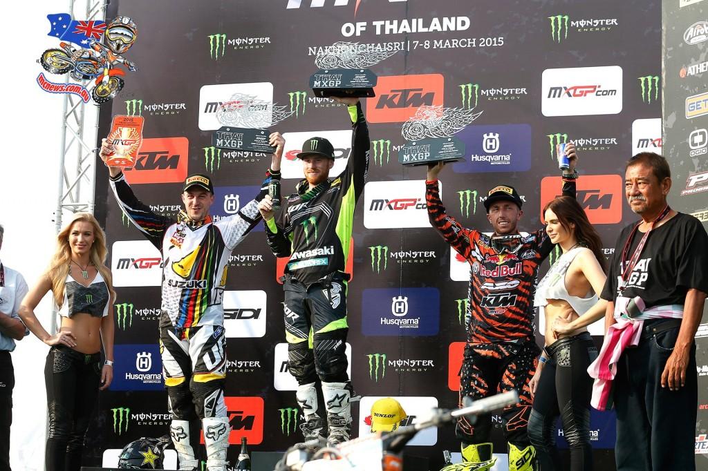 MXGP Thailand MX1 Podium