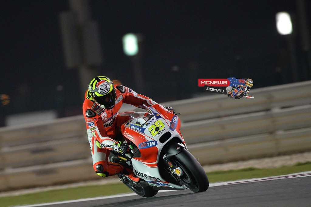 Andrea Iannone ran and battle with the leading quarter throughout the race