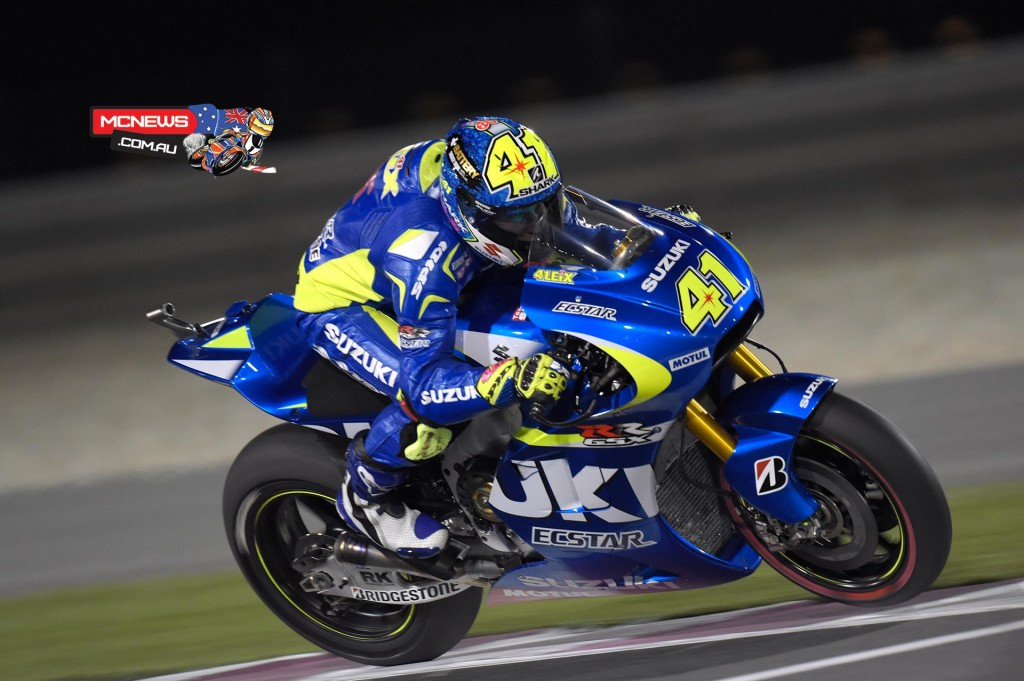 """Aleix Espargaro P4 - """"The day has been positive. In the first session we improved the traction control and my feeling with the bike got better and better. Also in the second session we worked-on finalising the set-up and we had very positive feedback. We couldn't try any of the long runs that we wanted because in FP2 we had some little issues that delayed our work, but at the end I managed to make a very good fast lap. I feel confident with both tyre compounds, which is important for qualifying and the race. Now we need to improve a little bit the feeling with the front-end and hopefully validate our potential race pace, while attempting a fastest lap in qualifying to see where we can be on the grid."""""""
