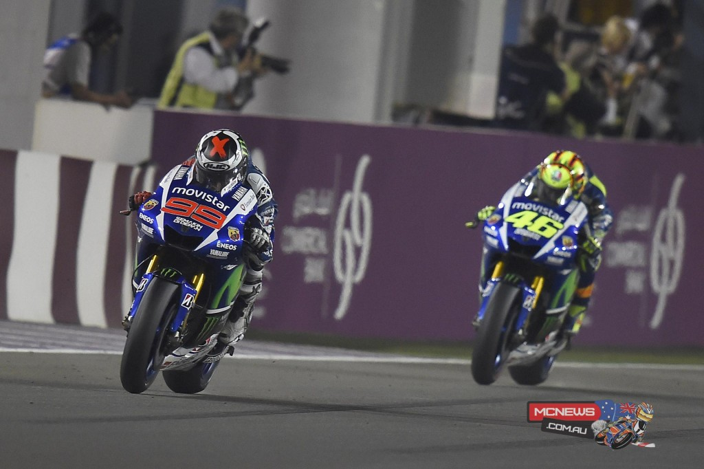 Jorge Lorenzo ran very strong right through to the middle of the race