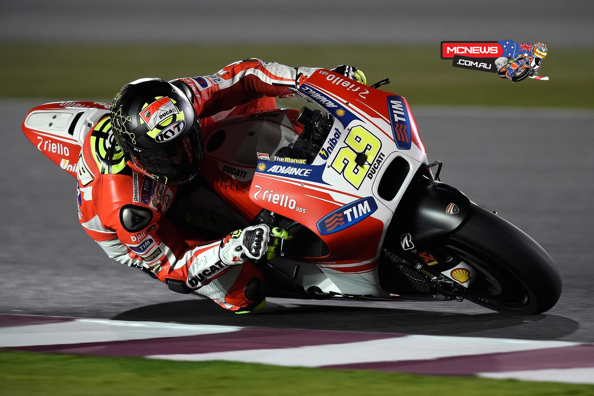 "Andrea Iannone (Ducati Team #29) – 1'55.265 (1st), 50 laps - ""For sure it was a positive first day, and we are learning more and more about the Desmosedici GP15 and its reactions. Today we carried out the schedule we had planned at the start of the day and we managed to get through everything we had to do. Now our engineers will have even more information to evaluate the situation, and in any case we were always quick. I am happy because we are improving every time we go out onto the track."""