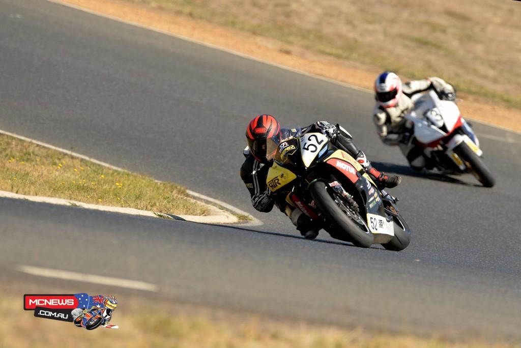 Ryan Taylor leads Ben Gotch - Pirelli Road Race Series