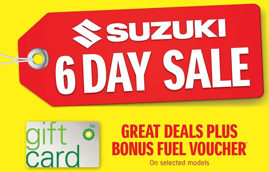 Suzuki 6 Day Sale