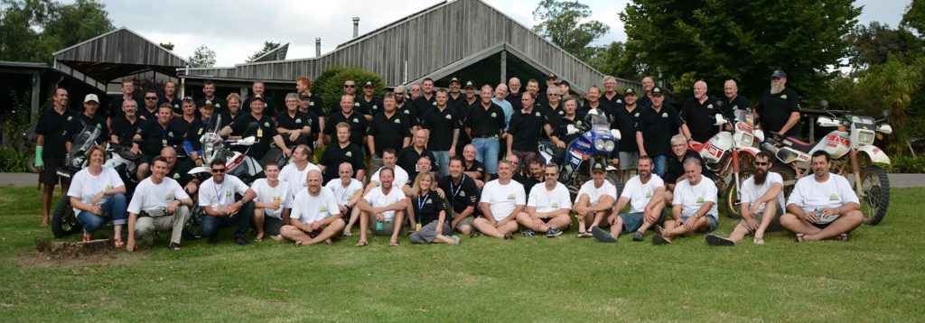 Ténéré owners celebrate completing the 2015 event at Riverwoods Downs near Dungog, NSW