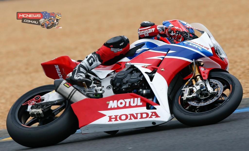 Team Honda Fireblade SP during qualifying for Le Mans 24 Hour