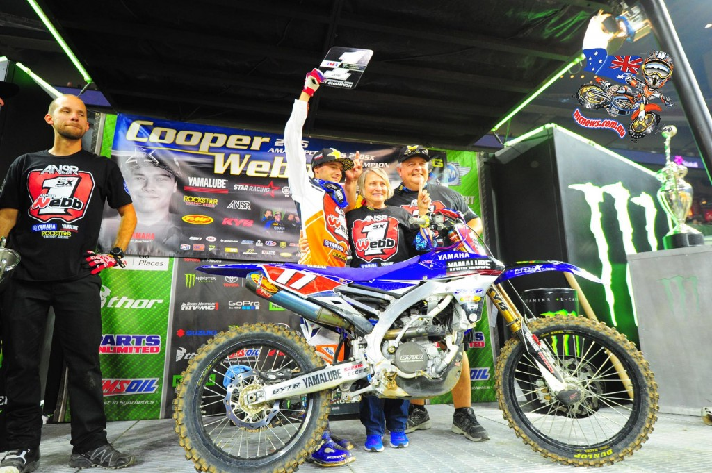 Cooper Webb captured his fifth win of the season