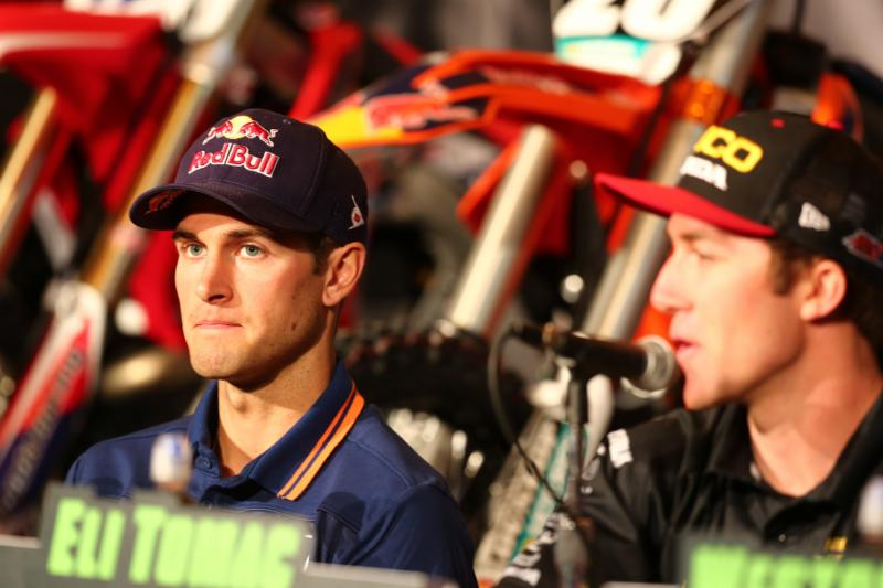 Ryan Dungey and Eli Tomac at the press conference inside Grand Central Station -Photo Credit: Brown Dog Wilson
