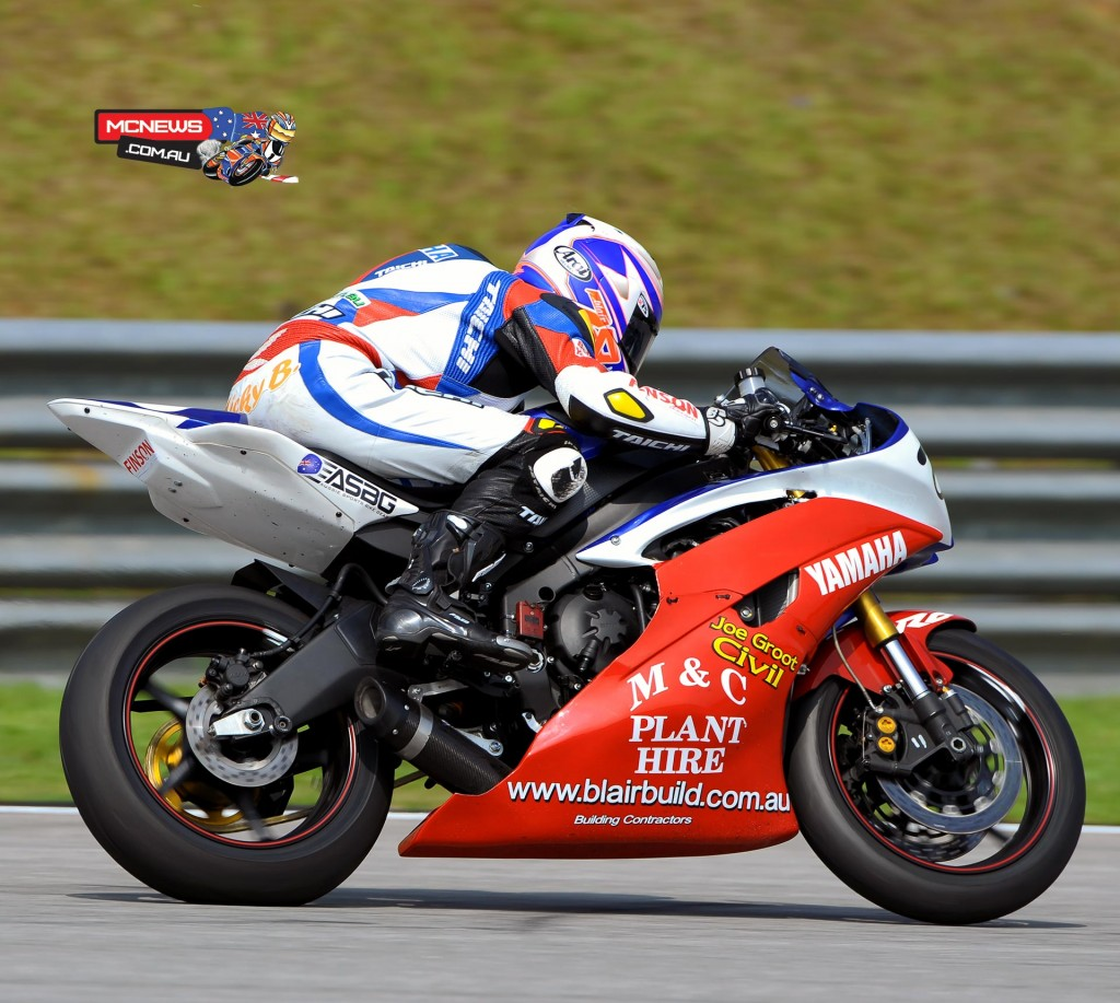 Michael Blair in action at the Sepang Asia Road Racing Championship Test, April 2015