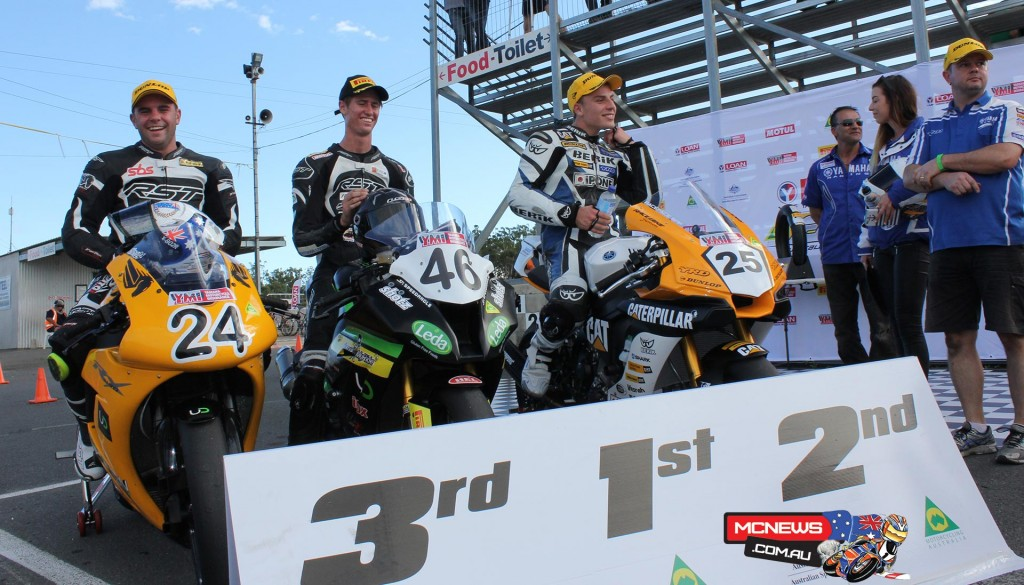 ASBK Superpole - Mike Jones fastest by almost two seconds. Photo by Aaron Reinke