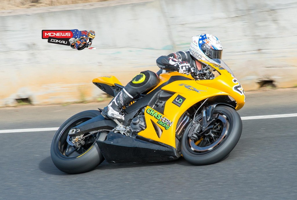 Victorian Superbike racer Chas Hern has been racing an EBR 1190 RX, and put the machine on the podium at the second round of the ASBK Championship last weekend at Morgan Park.