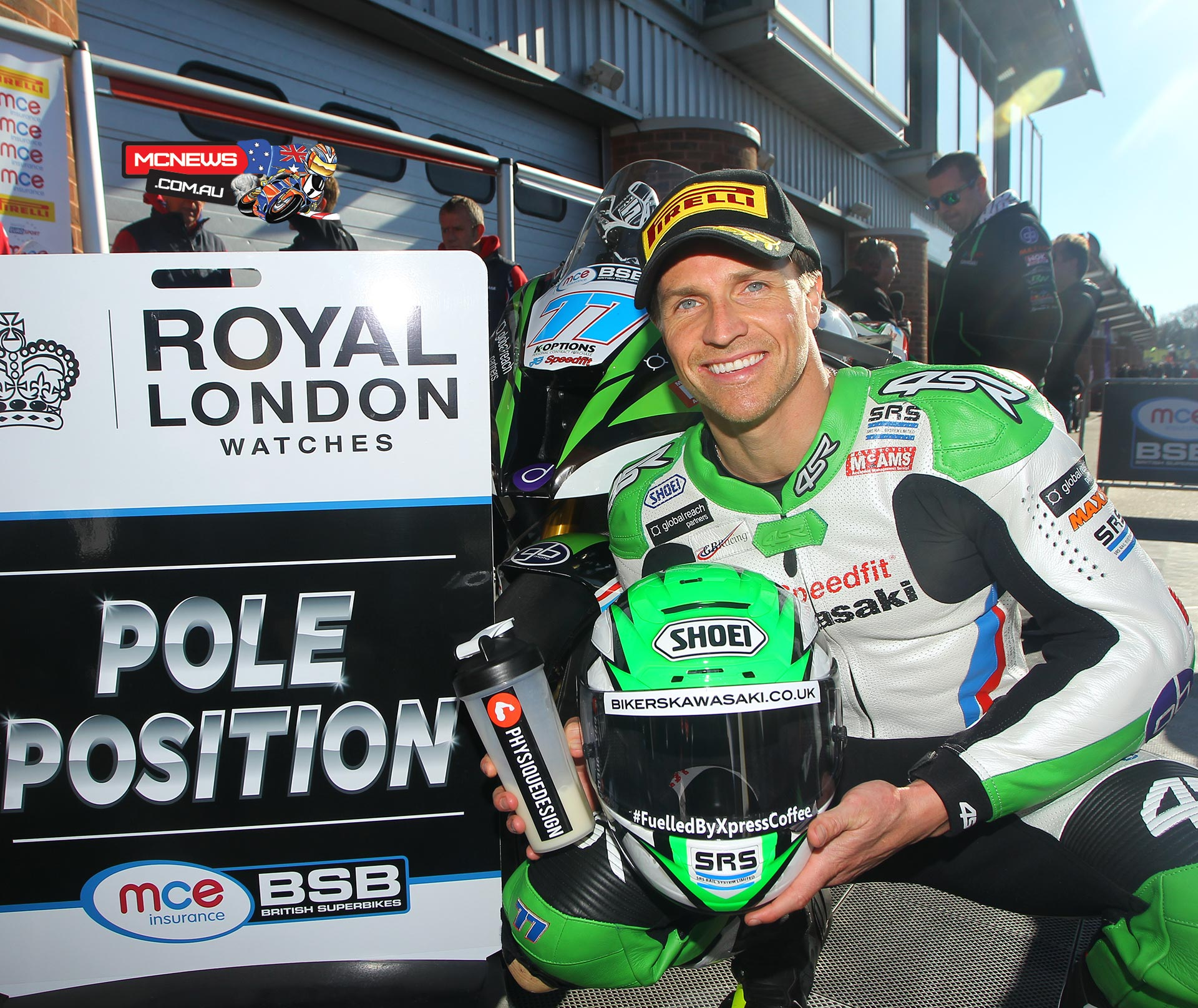 James Ellison claimed his first pole position of the 2015 MCE Insurance British Superbike Championship season by pushing under the Brands Hatch Indy circuit lap record