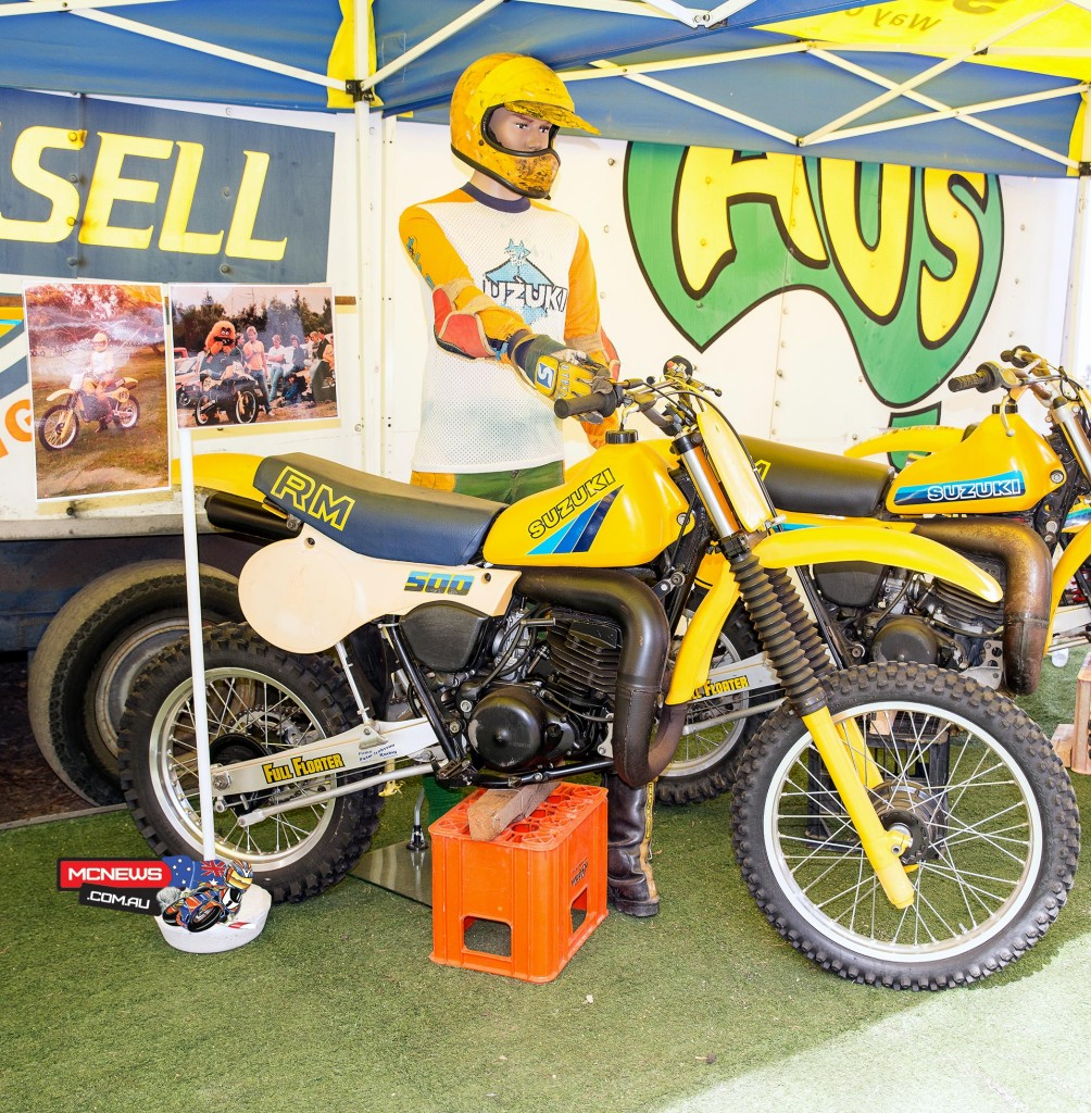 David Russell staged a great display including this lovely RM500 Suzuki