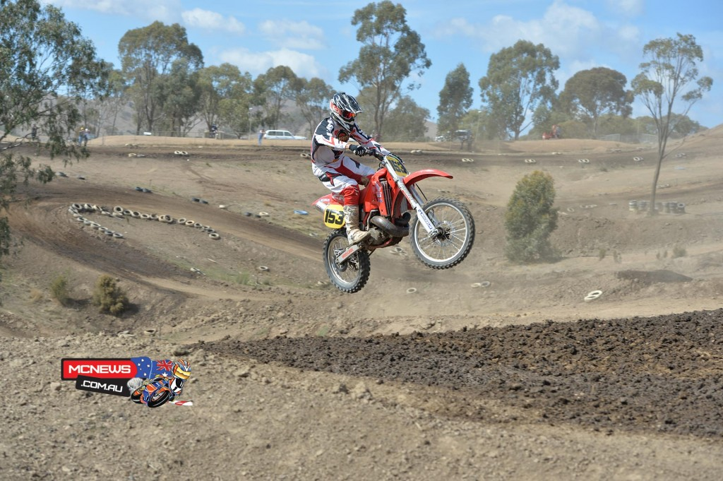 Eleven-time Australian Motocross and Supercross Champion Glen Bell was awesome on a might Honda CR500R