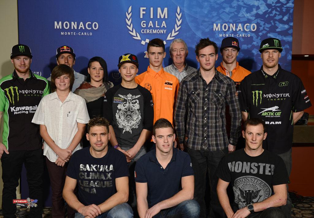 Caleb Grothues keeping good company at the 2012 FIM Gala Awards where Caleb celebrated his World Championship win