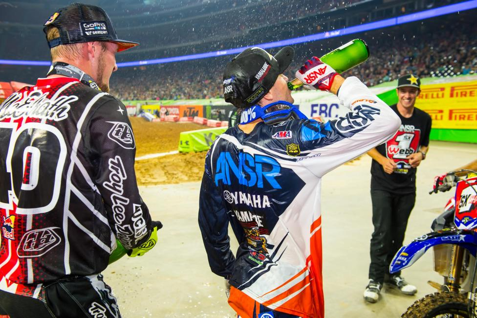 Cooper Webb celebrates his first championship