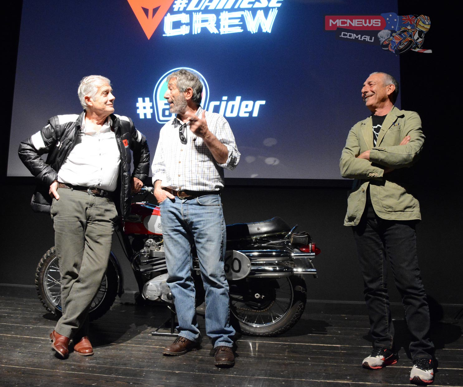 The 15 times World Champion Giacomo Agostini and Marco Lucchinelli this week presented the fifth episode of the Dainese webseries at the Deus Café in Milan entitled Old Dogs.