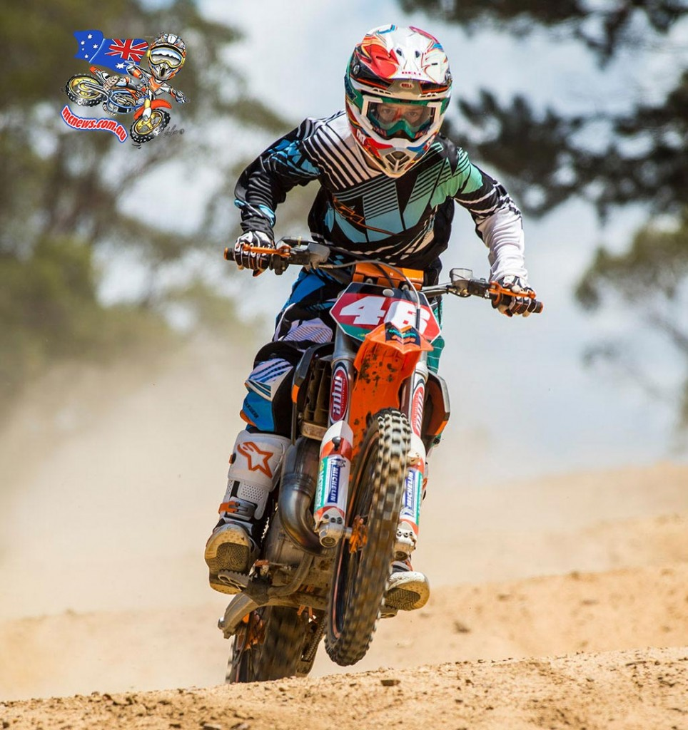 Hunter Lawrence in 2013 on an 85cc