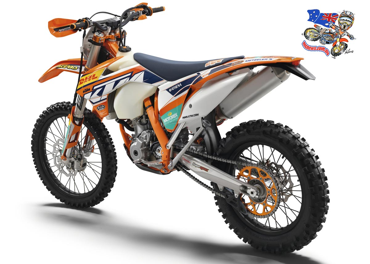 For a limited time, purchase a trail-taming KTM250 EXC or EXC-F and KTM Australia will throw in a FREE KTM factory edition skin worth over $1400. But take your lead from either of these two bikes... and be quick!