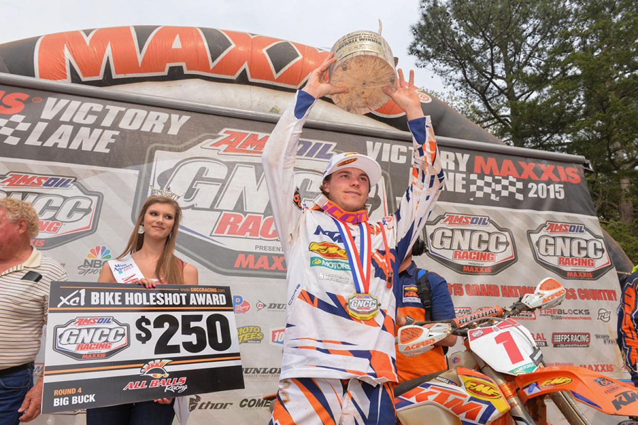 Kailub Russell continued his dominance at the Big Buck GNCC