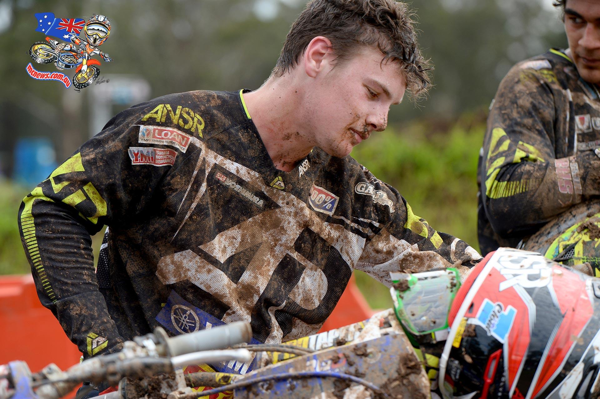 Luke Clout / Yamaha - 1st overall MX Nationals / Round 2 / MX2 Australian Motocross Championships Appin NSW Sunday 12 April 2015