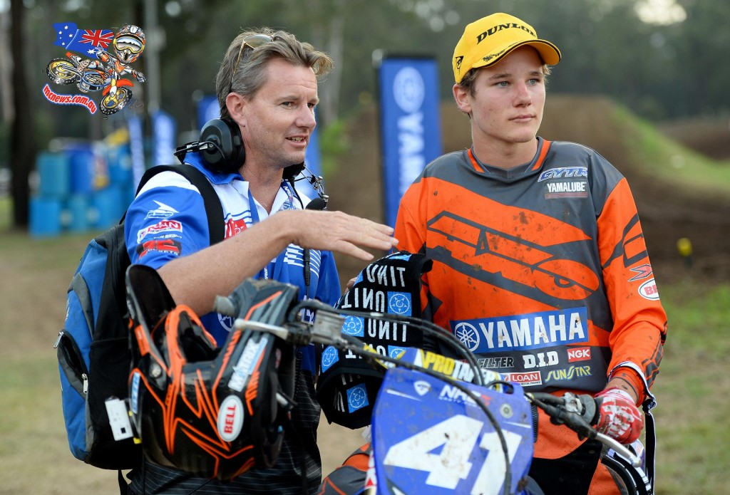 Wilson Todd / Yamaha / 1st overall with team boss, Scott Bishop MX Nationals / Round 2 / MXD Australian Motocross Championships Appin NSW Sunday 12 April 2015