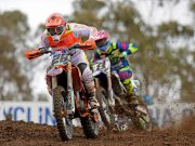 Luke Styke took advantage of the incident and inherited the race lead never looking back, and in doing so broke through for his first ever MX Nationals MX1 race win.
