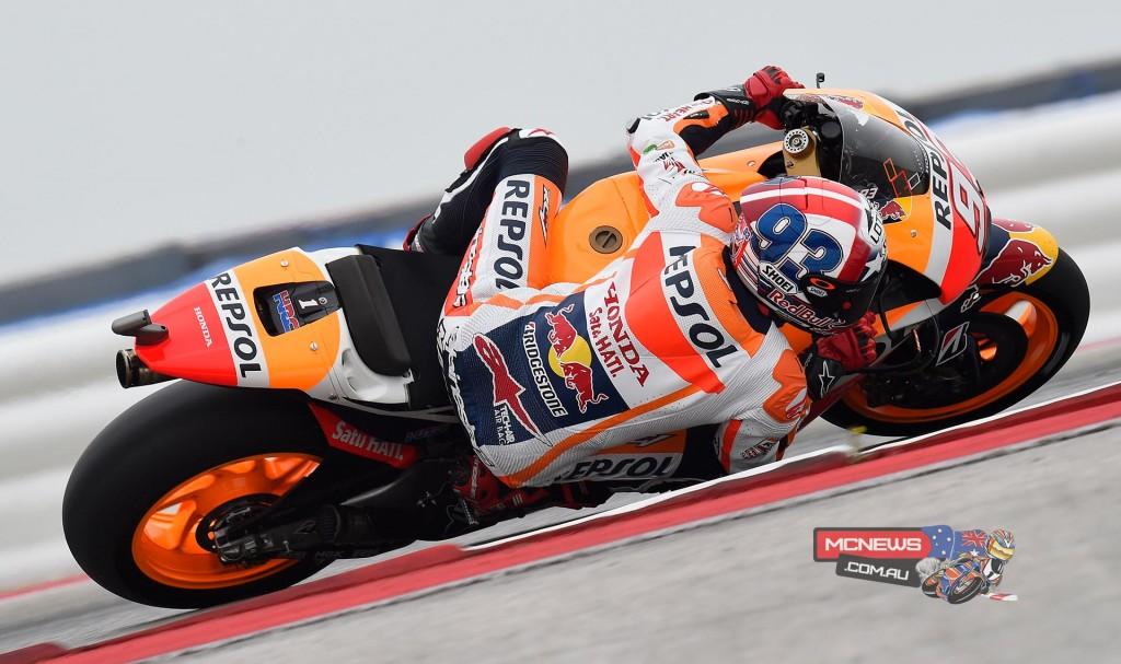 Repsol Honda's Marc Marquez rode a sensational final lap in MotoGP Qualifying Practice 2 to smash his ow