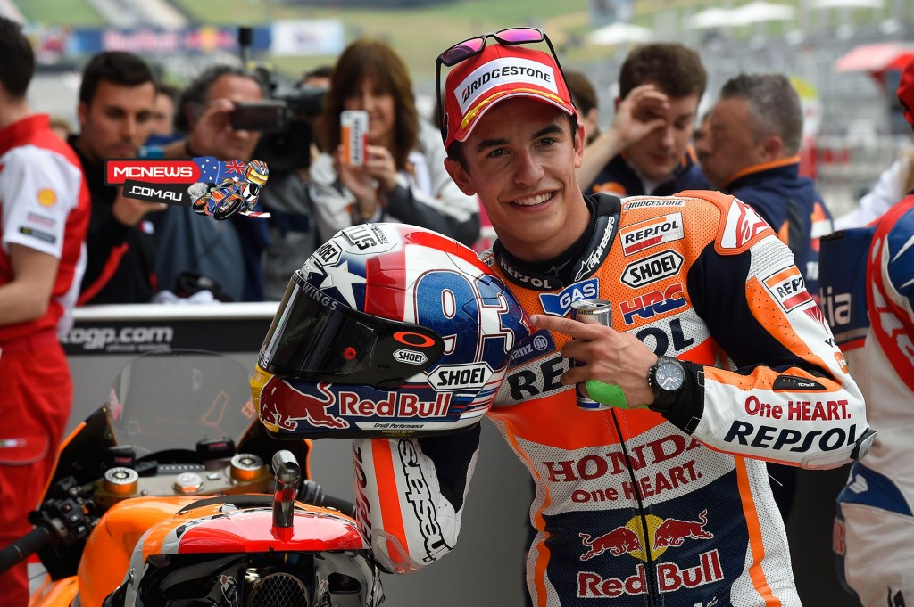 Repsol Honda's Marc Marquez rode a sensational final lap in MotoGP Qualifying Practice 2 to smash his own Circuit of the Americas lap record as he vies for a third consecutive victory at the Texas circuit.