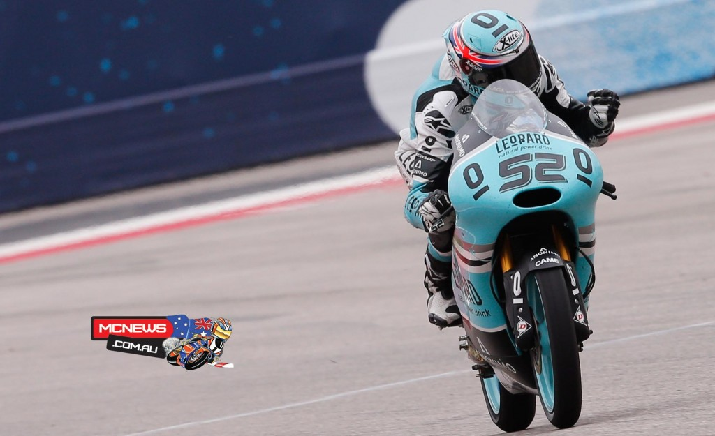 Danny Kent took his first win of the 2015 Moto3 season, and 3rd in his career, as he left the rest of the field for dead in Austin.