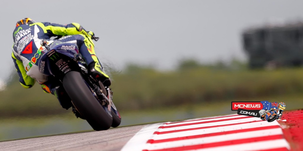"Valentino Rossi - 3rd / +3.120 / 21 laps - ""I'm happy about the weekend, because getting onto the podium is a good objective when coming here. On paper this track is the worst for our bike. I am satisfied about the weekend as a whole because we were always in the top 4-5 and we also weren't so bad on the wet. For it to be perfect I would have had to beat Dovizioso, but unfortunately he was a bit faster. I didn't have a chance to try, also because after six or seven laps of pushing a lot, I had to ride very smooth. For some reason our bike destroyed the front tyre. It's been like this in 2013 and last year, but this year, fortunately, Bridgestone brought a harder front. That helped me to arrive at the end of the race, but the tyre was still damaged. Dovi said to me that we risked a lot overtaking in turn 12. From the bike I didn't feel it and I thought we had some margin. We passed each other very closely, but there was enough space."""