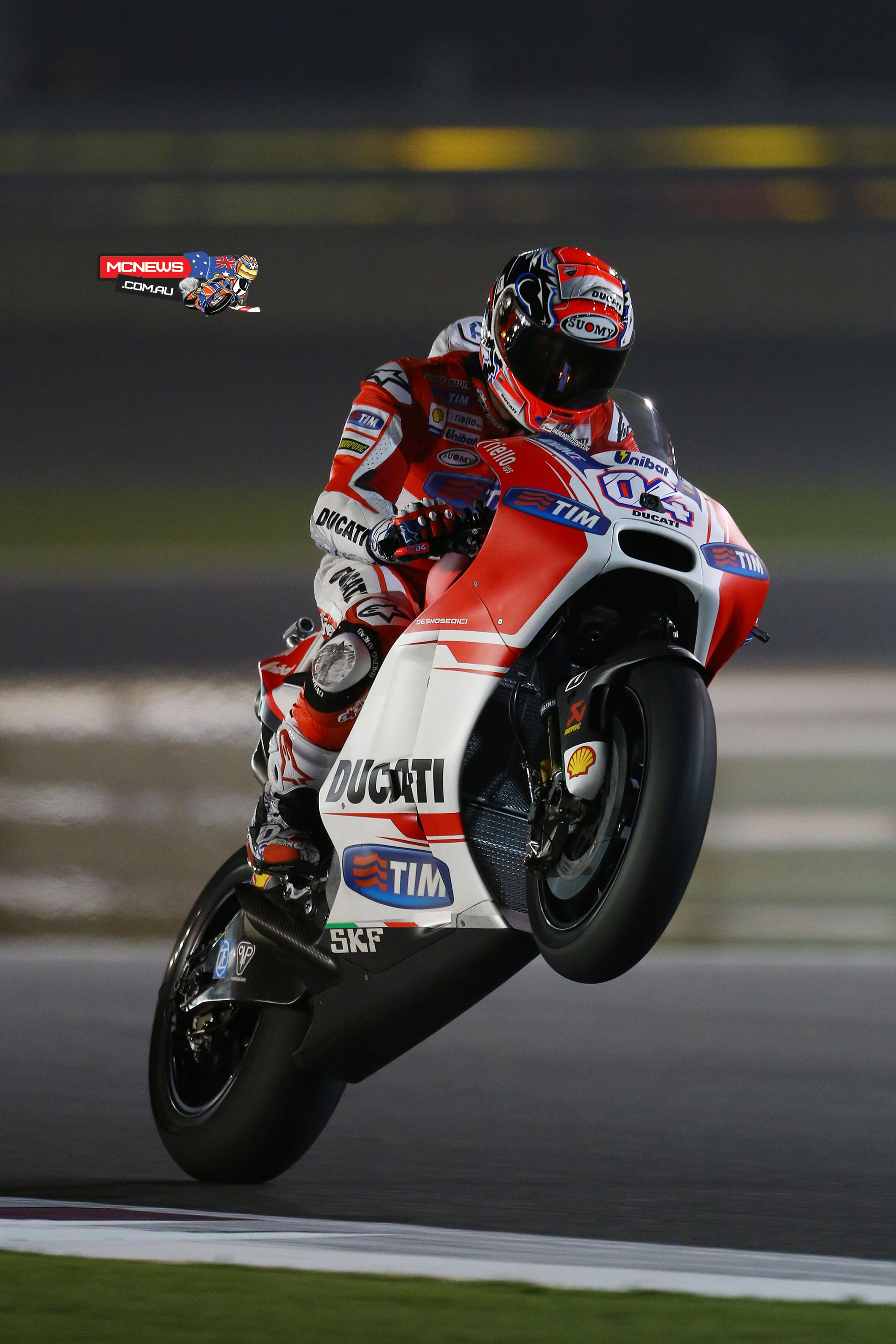 Andrea Dovizioso was pipped at the post for the win by Valentino Rossi in Qatar MotoGP 2015 season opener