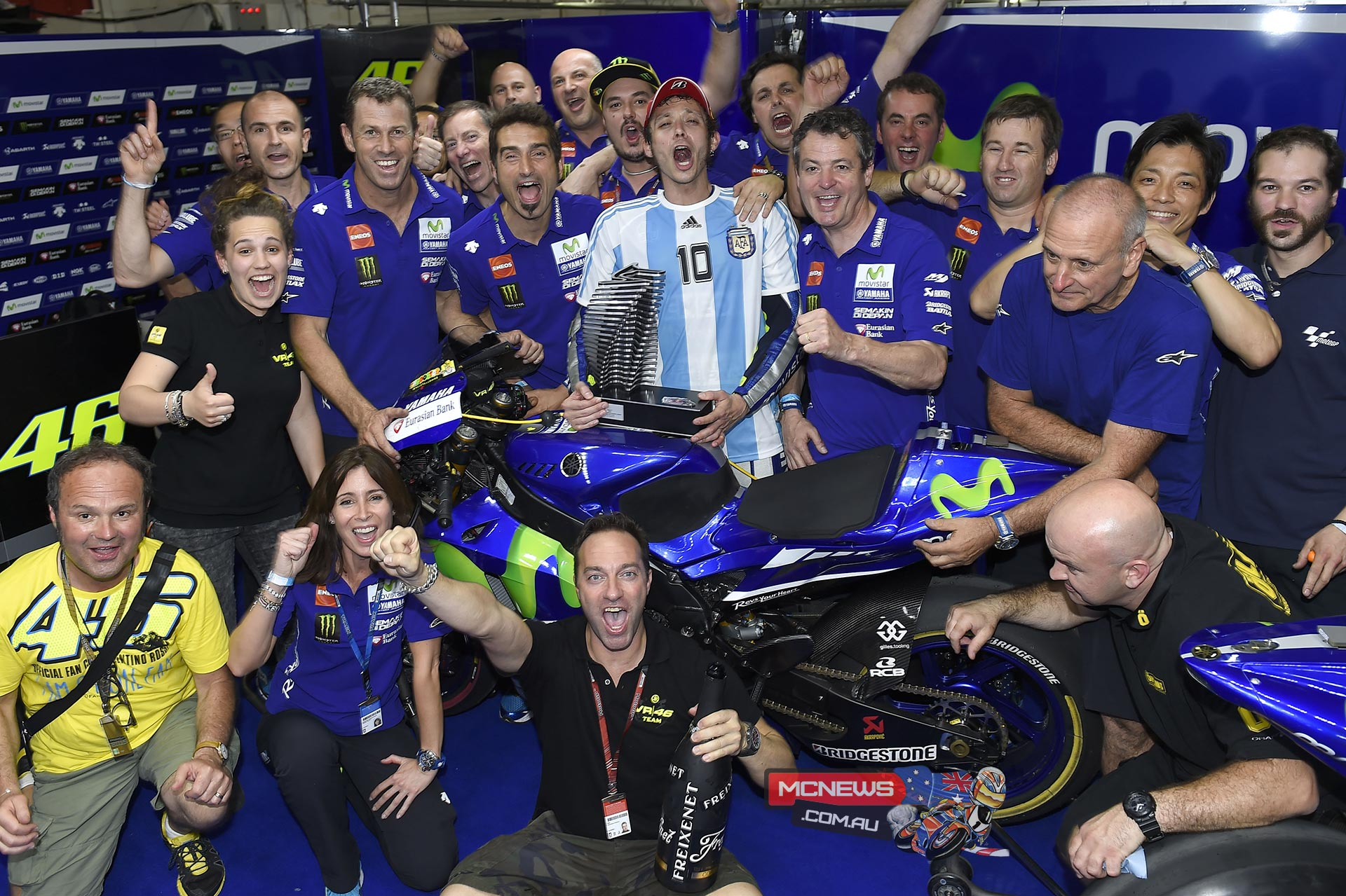 Valentino Rossi celebrates in Argentina (2015)