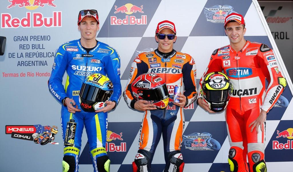 MotoGP Qualifying Front Row Argentina 2015